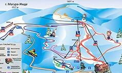 Горнолыжные трассы на курорте Пилипец